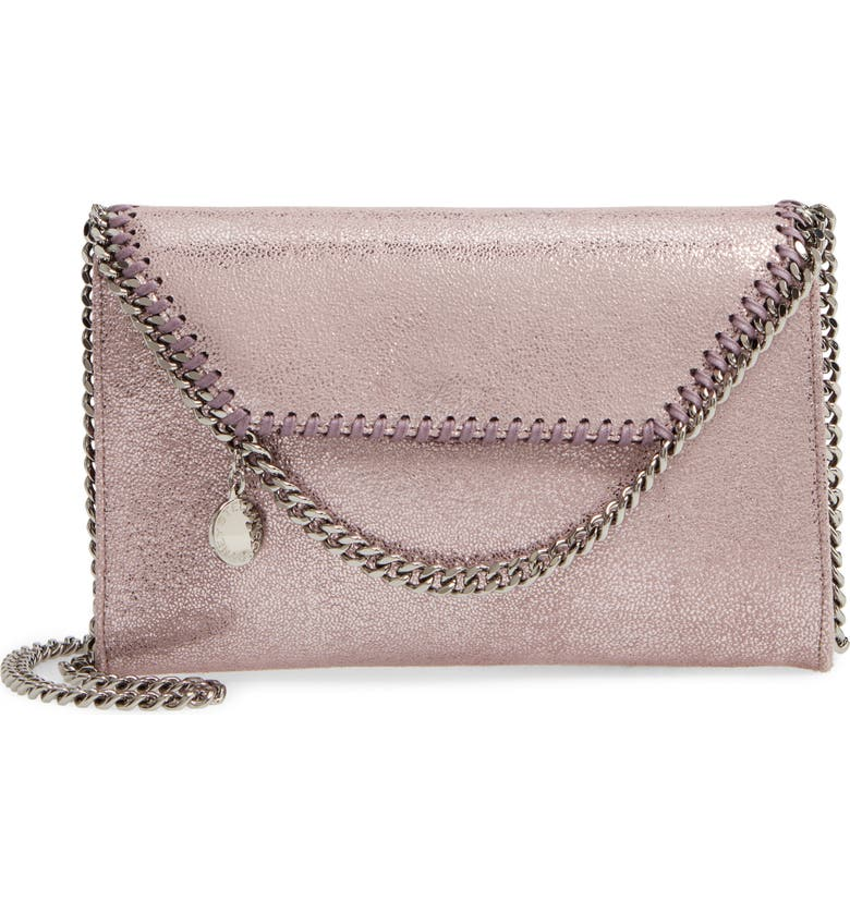STELLA MCCARTNEY Mini Falabella Faux Leather Crossbody Bag, Main, color, BLUSH