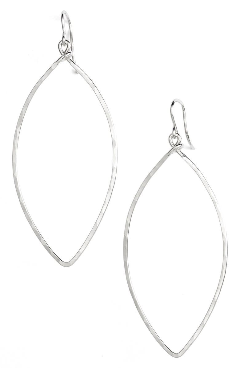 NASHELLE Ija Sterling Silver Oblong Hoop Earrings, Main, color, 040