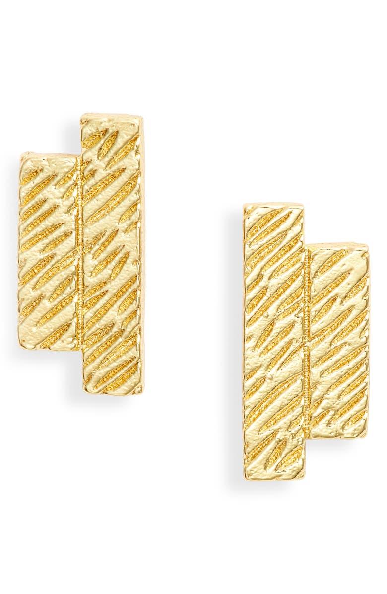 GORJANA Bryce Stud Earrings, Main, color, GOLD
