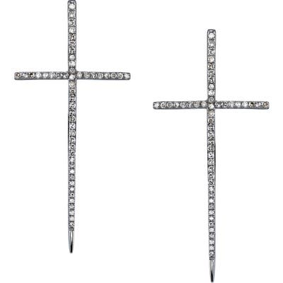 Sheryl Lowe Diamond Dagger Cross Earrings