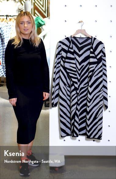 Zebra Stripe Drape Lapel Jacquard Cardigan, sales video thumbnail