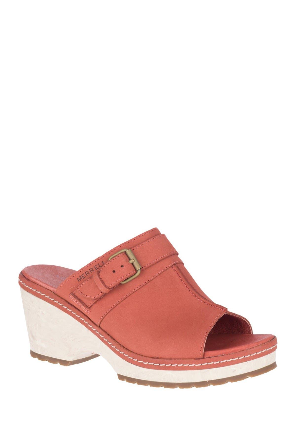 Image of Merrell Halendi Slide Leather Sandal