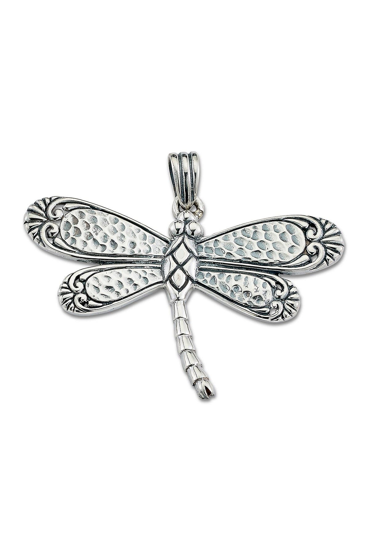 Image of Samuel B Jewelry Sterling Silver Dragonfly Pendant