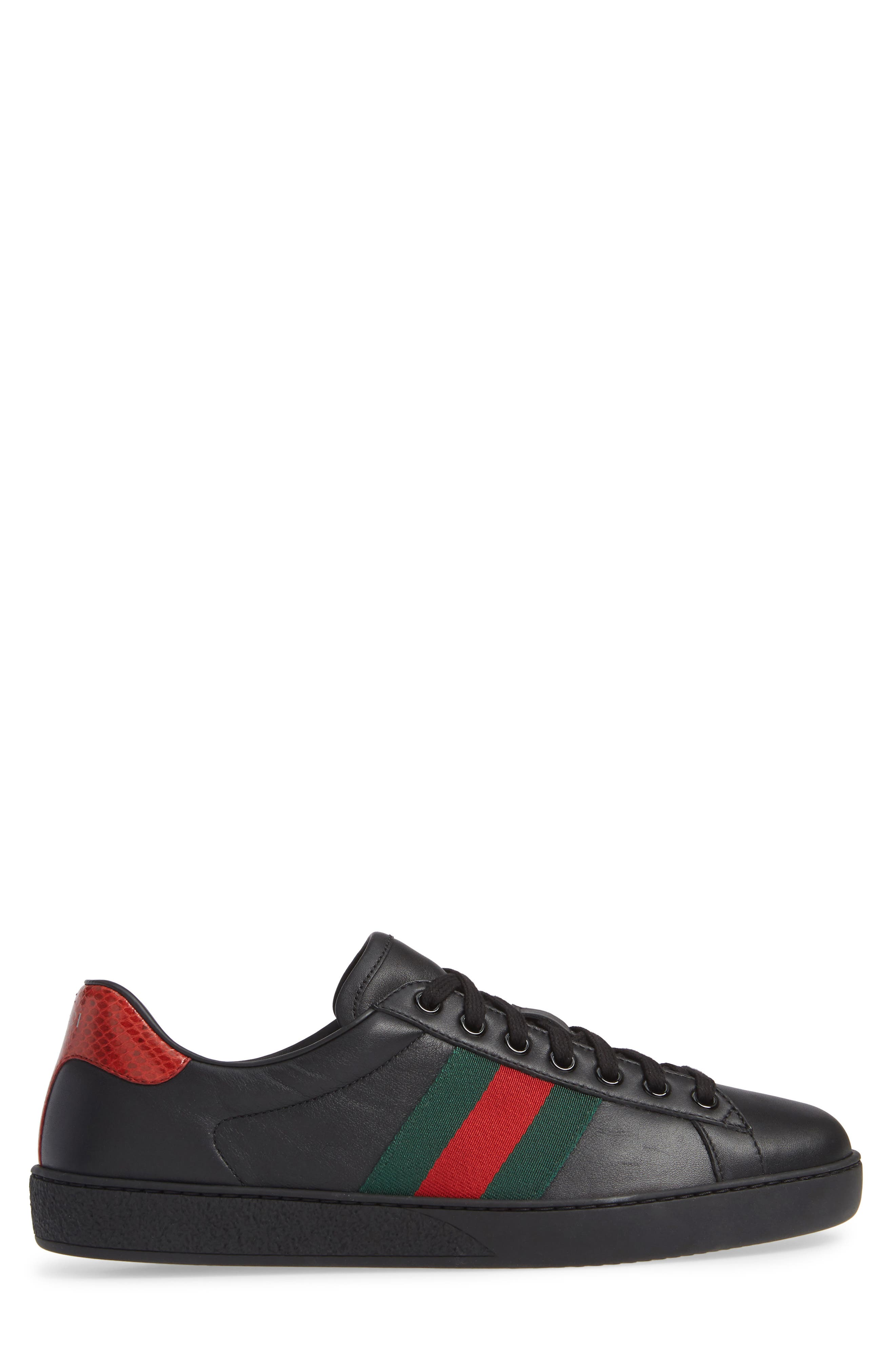 ,                             New Ace Clean Sneaker,                             Alternate thumbnail 3, color,                             BLACK/ RED