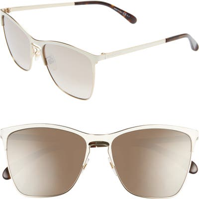 Givenchy 5m Cat Eye Sunglasses - Whit Gold/ Brown Gradmirgd