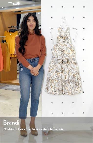 Selima Palm Leaf Print Silk Minidress, sales video thumbnail