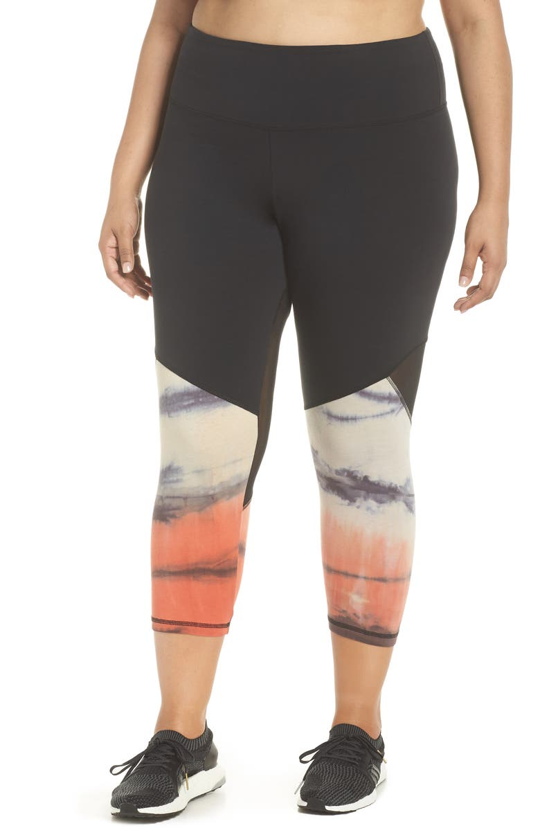 MARIKA CURVES Zuri Crop Leggings, Main, color, 001