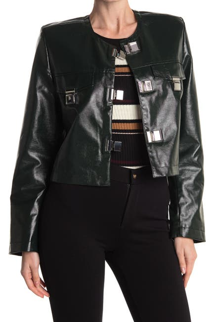 Image of RODEBJER Reza Faux Leather Crop Jacket