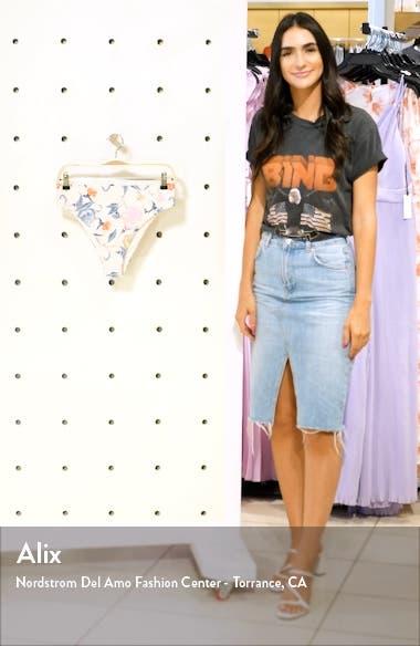 Batik Floral High Waist Bikini Bottoms, sales video thumbnail