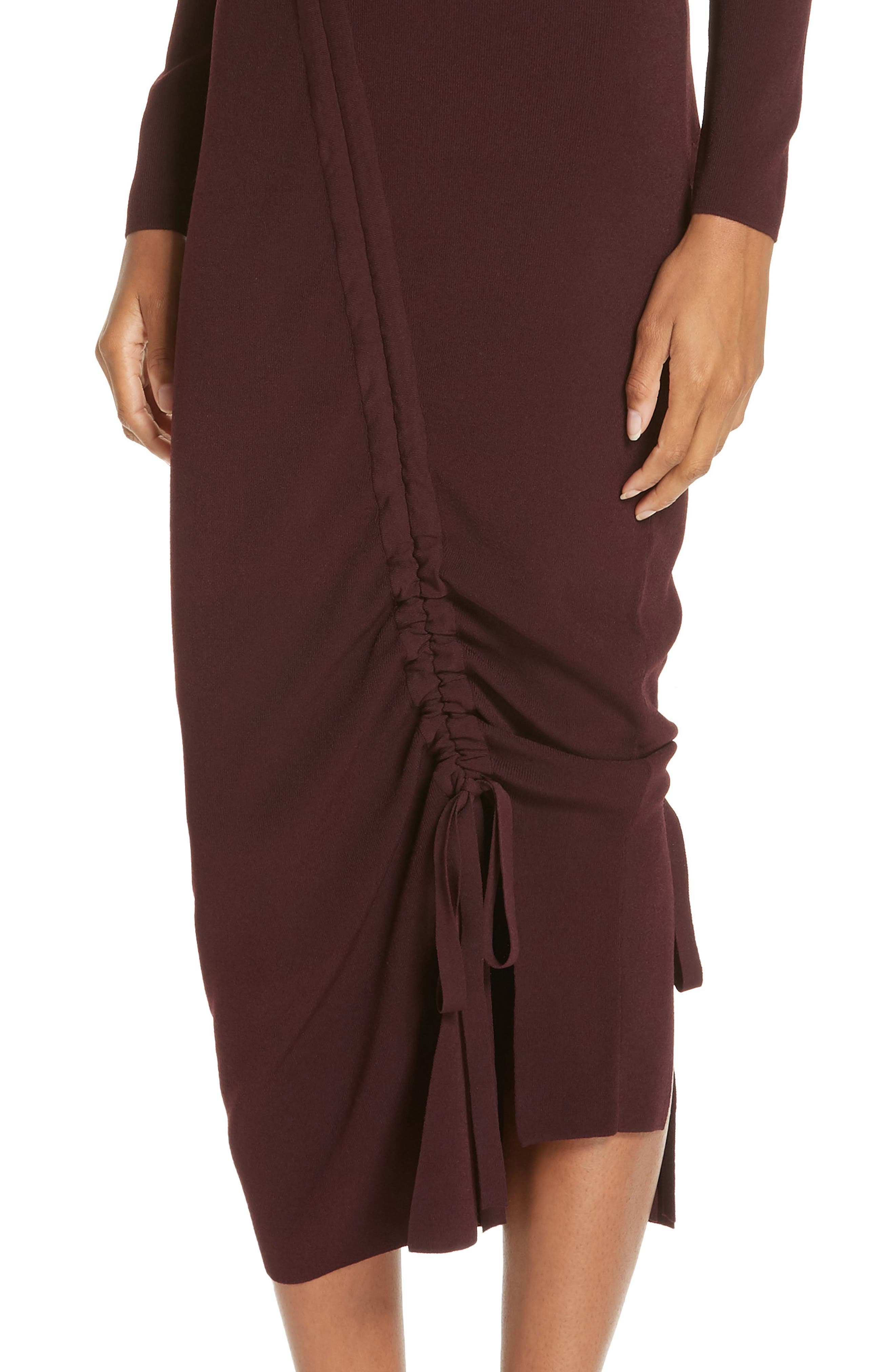 ,                             Diagonal Ruched Tunnel Dress,                             Alternate thumbnail 23, color,                             930
