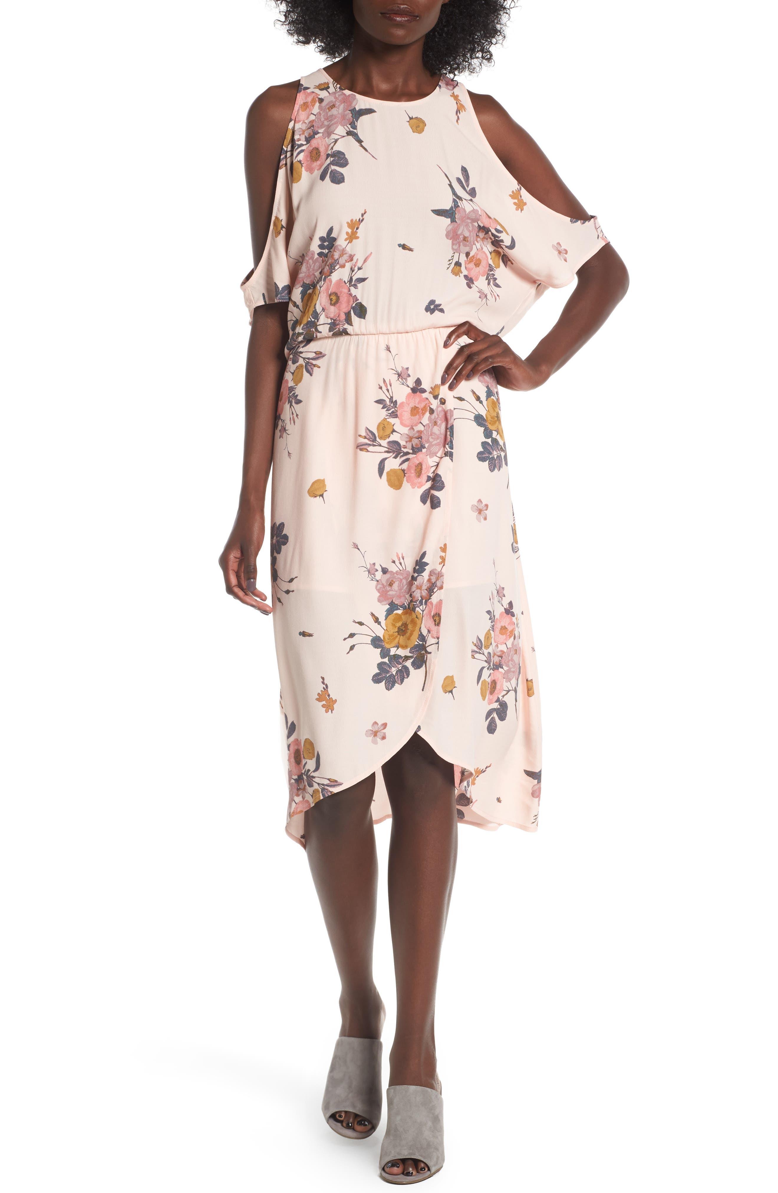 ,                             Cold Shoulder Midi Dress,                             Main thumbnail 8, color,                             681