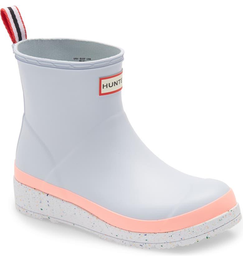 HUNTER Original Play Speckled Platform Waterproof Rain Boot, Main, color, LIMPET GREY