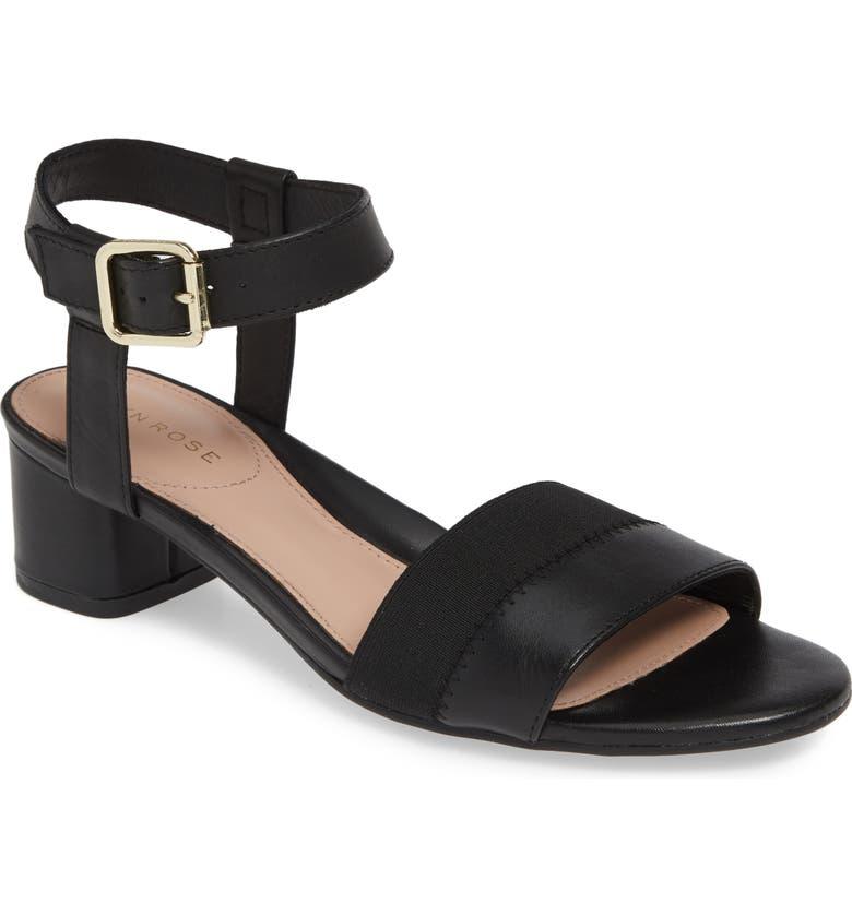 TARYN ROSE Makena Sandal, Main, color, BLACK LEATHER