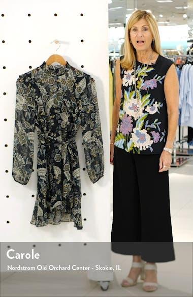 Viola Floral Ruffle Long Sleeve Chiffon Minidress, sales video thumbnail