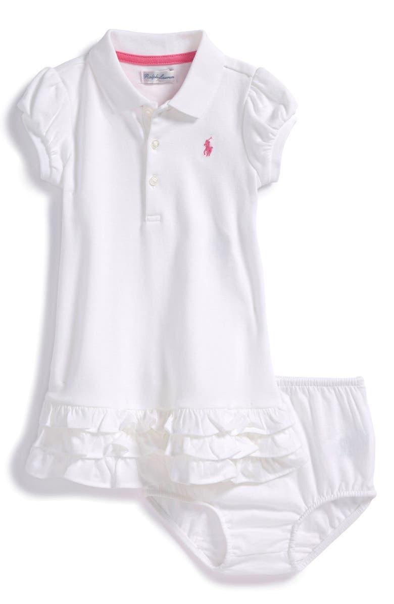 ca35f1e683 'Cupcake' Ruffle Hem Polo Dress & Bloomers
