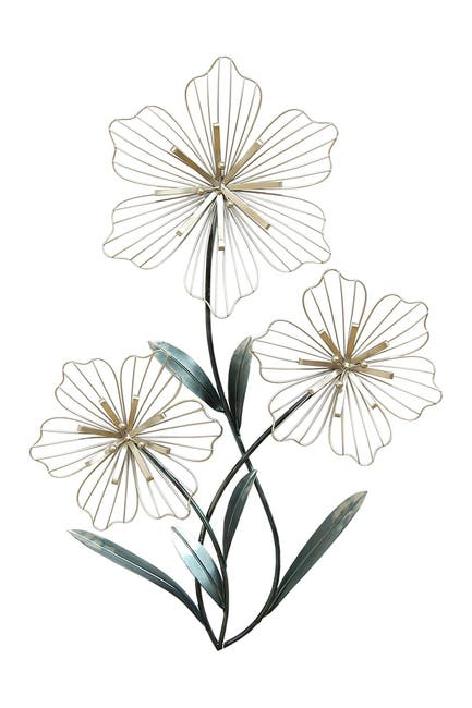 Image of Stratton Home Tri-Flower Wall Art