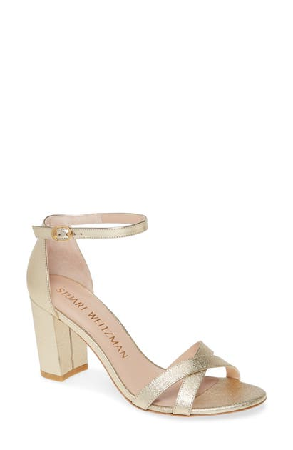 Stuart Weitzman Sandals NEARLYNUDE ANKLE STRAP SANDAL