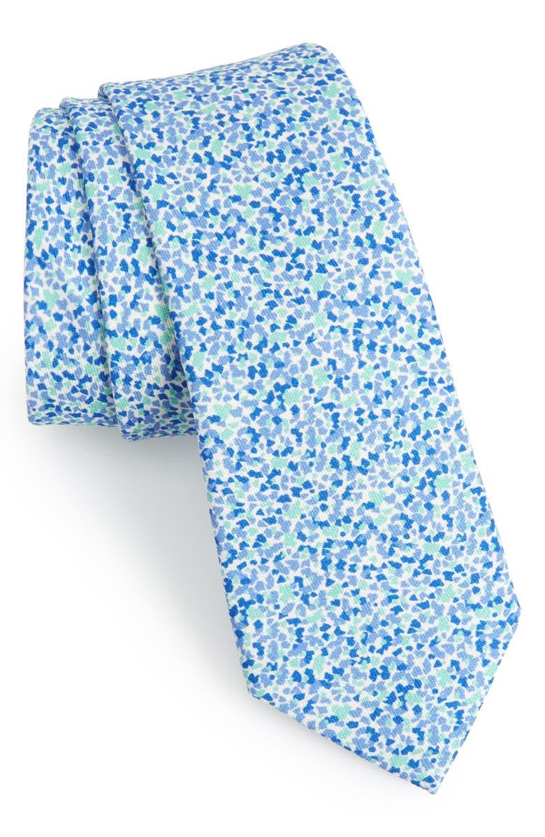 1901 Rubeo Print Silk & Cotton Tie, Main, color, 335
