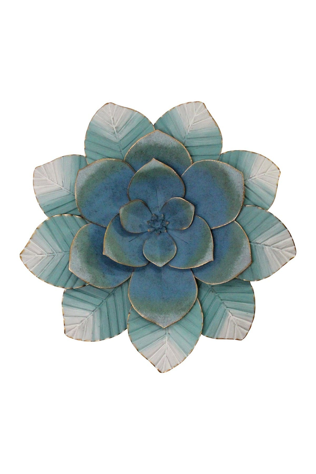 Stratton Home Blue Ombre Metal Flower Wall Decor at Nordstrom Rack