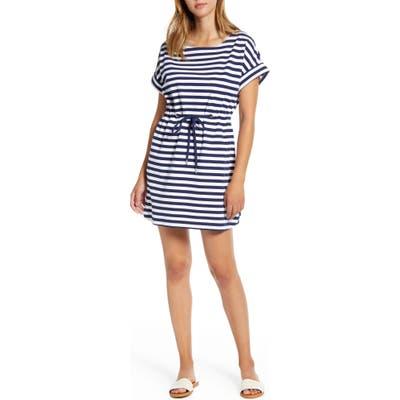 Tommy Bahama Amira Short Sleeve Stripe Dress, Blue