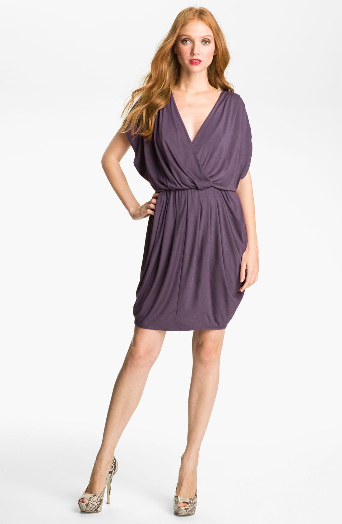 ,                             Faux Wrap Pleated Dress,                             Main thumbnail 13, color,                             500