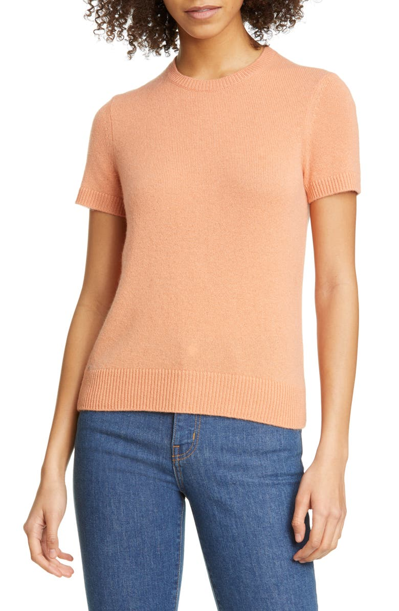 THEORY Featherweight Cashmere Sweater, Main, color, APRICOT