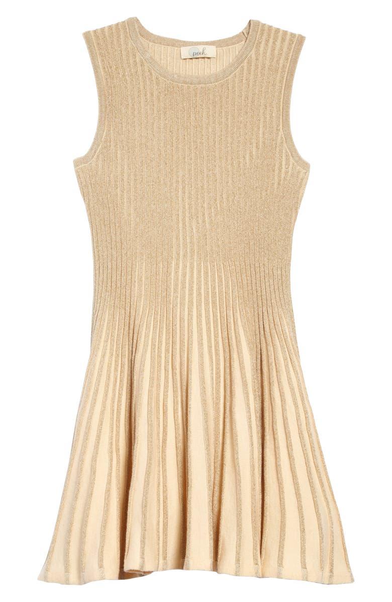 PEEK AREN'T YOU CURIOUS Emelia Sweater Dress, Main, color, GOLD