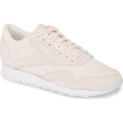 Reebok Classic Nylon Sneaker, Beige