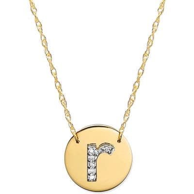 Jane Basch Designs Diamond Initial Disc Pendant Necklace
