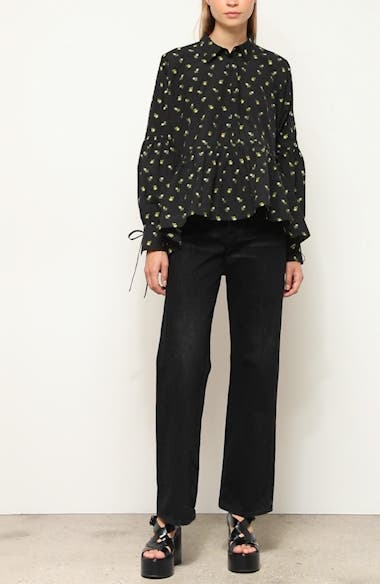 Andrea Floral Cotton Poplin Shirt, video thumbnail