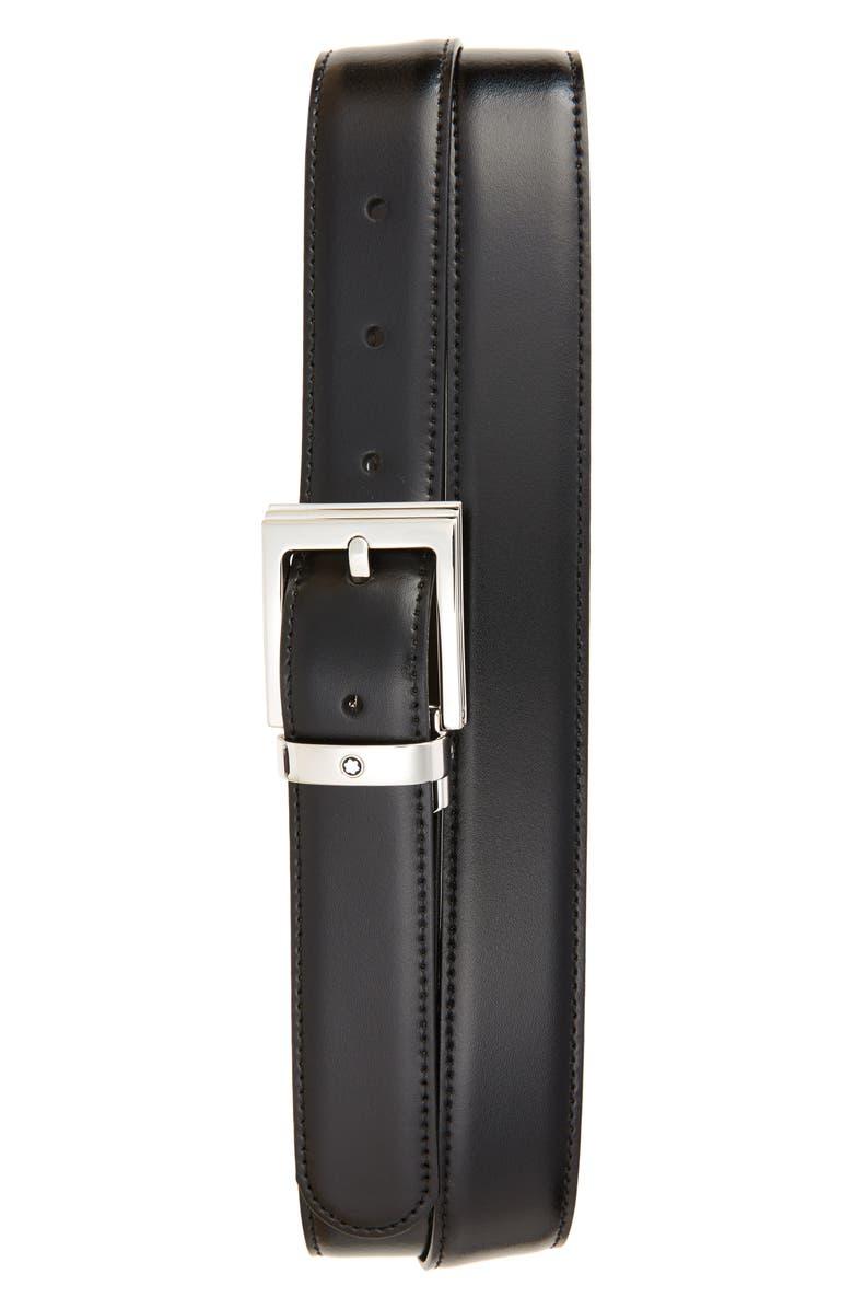 MONTBLANC Reversible Leather Belt, Main, color, 001