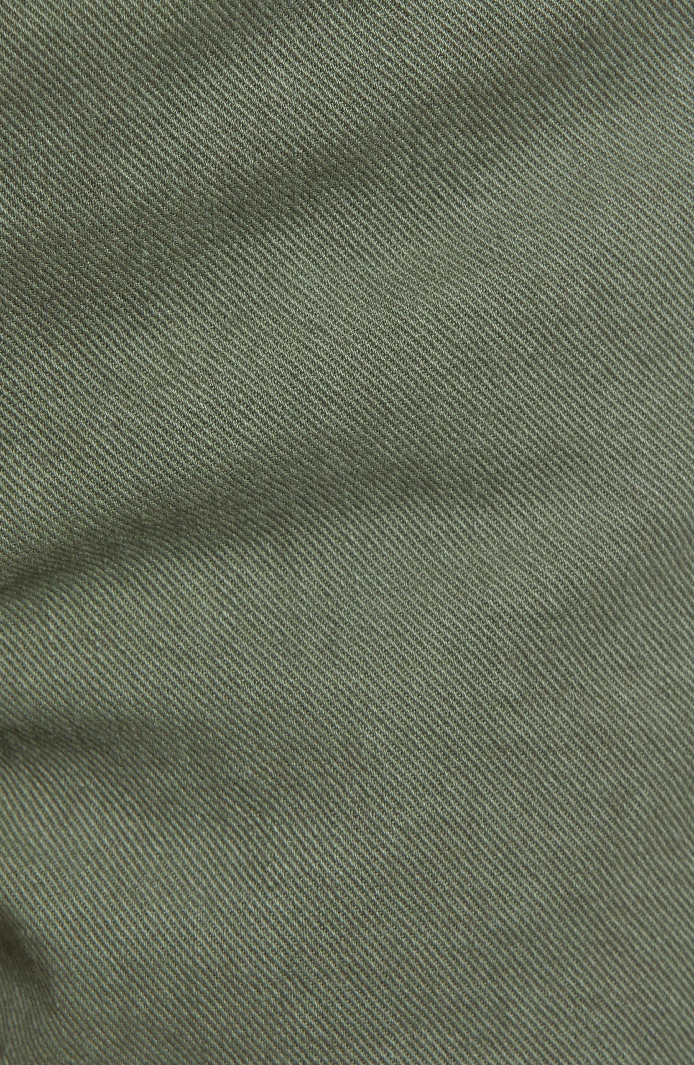 ,                             High Waist Cutoff Denim Shorts,                             Alternate thumbnail 6, color,                             ARMY