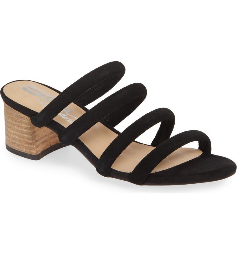 SBICCA Ravia Strappy Slide Sandal, Main, color, BLACK SUEDE