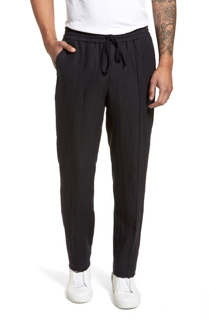 Image of Vince Pintuck Slim Fit Hemp Track Pants