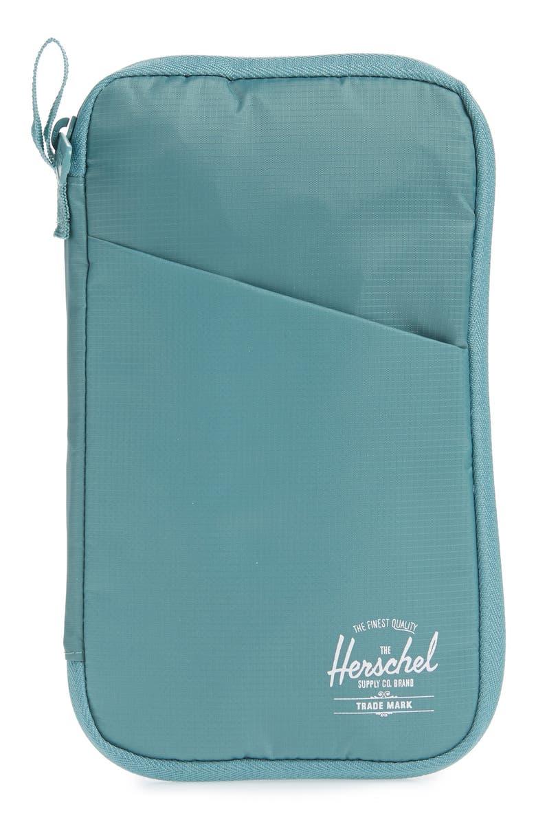 HERSCHEL SUPPLY CO. Travel Wallet, Main, color, ARCTIC