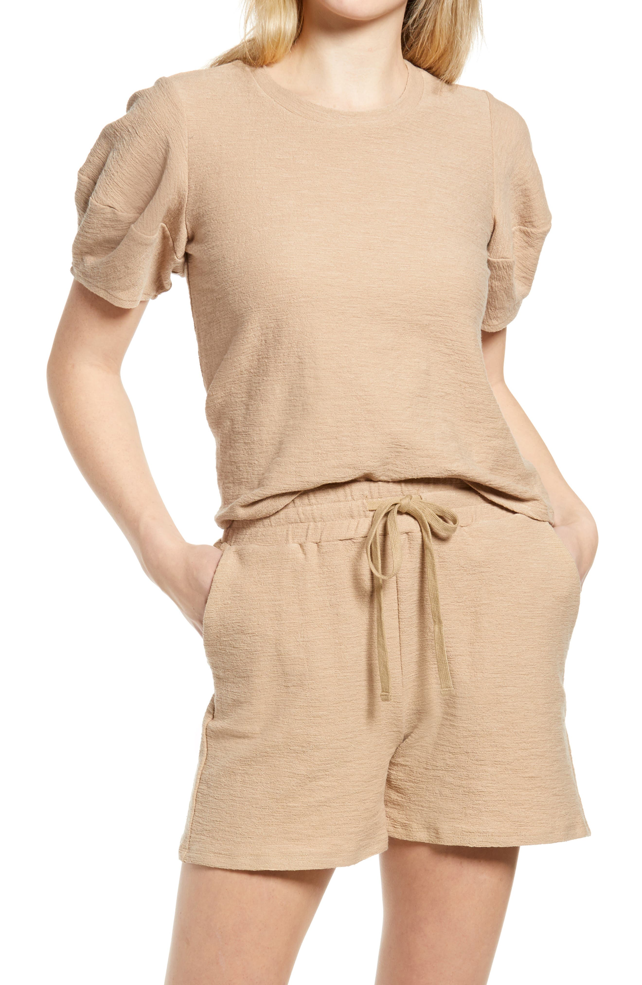 Mojito Textured Puff Sleeve T-Shirt