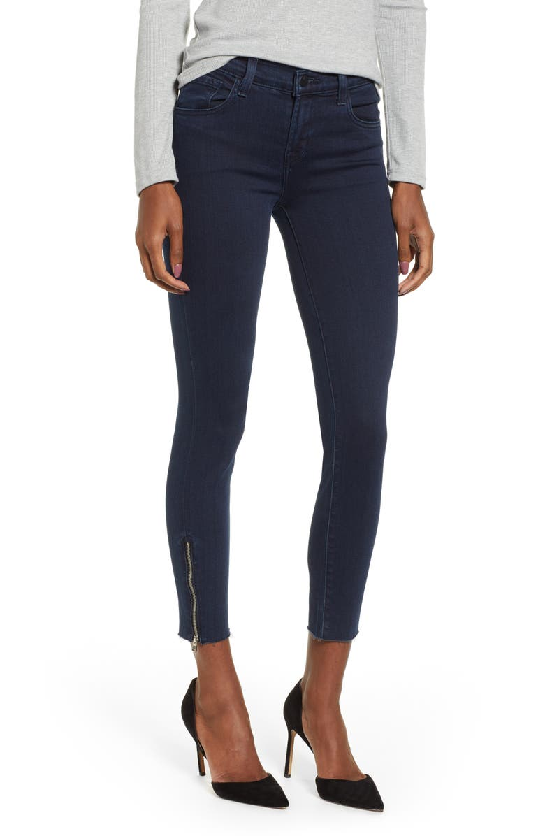 J Brand 835 Zip Hem Crop Skinny Jeans (Rhythm) | Nordstrom