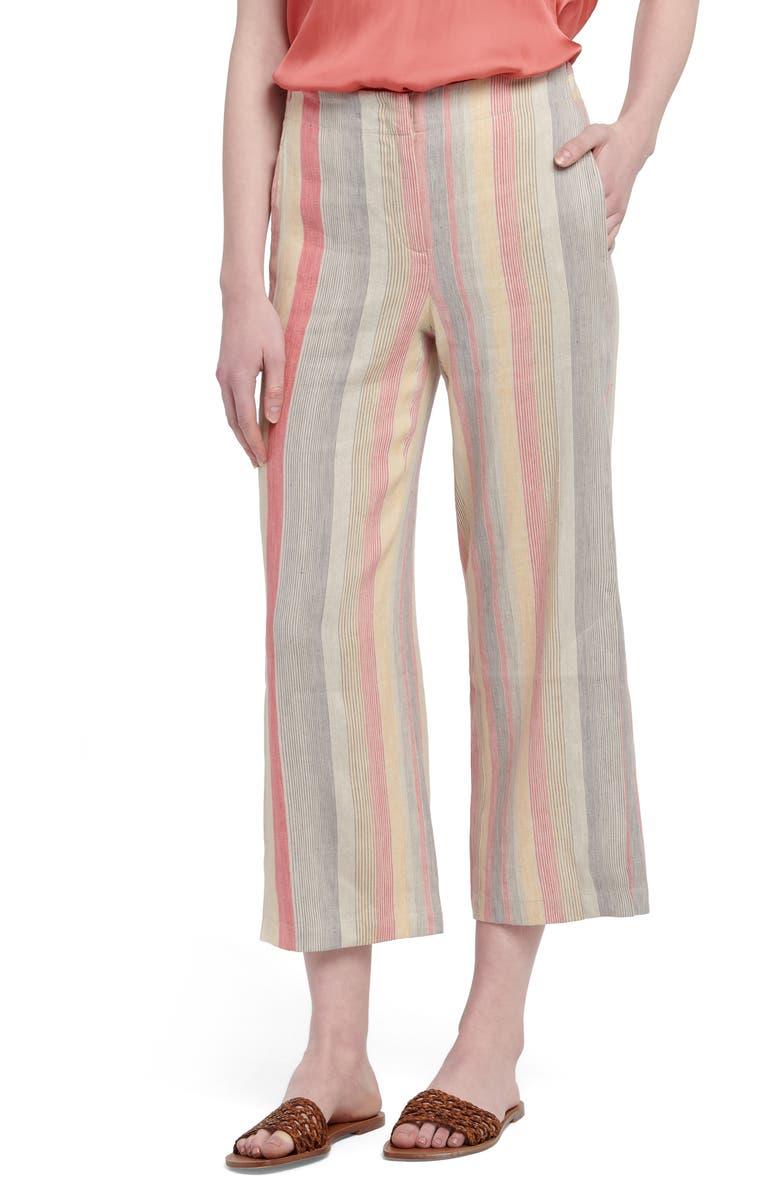 NIC+ZOE Sweetclover Crop Pants, Main, color, ORANGE MULTI