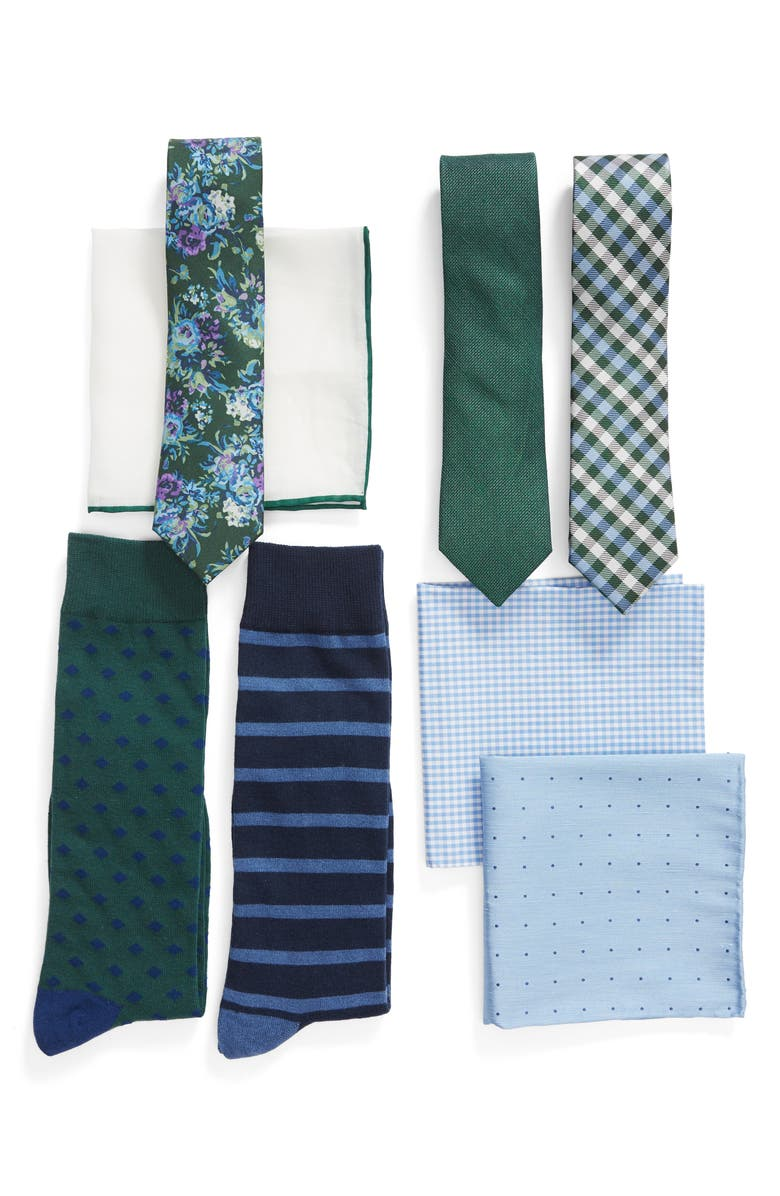 THE TIE BAR Green Large Style Box, Main, color, 300