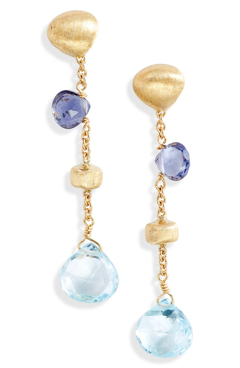 MARCO BICEGO Africa Semiprecious Stone Drop Earrings, Main, color, 710