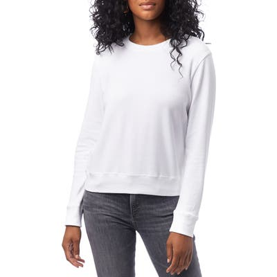 Alternative Cotton Blend Interlock Sweatshirt, White