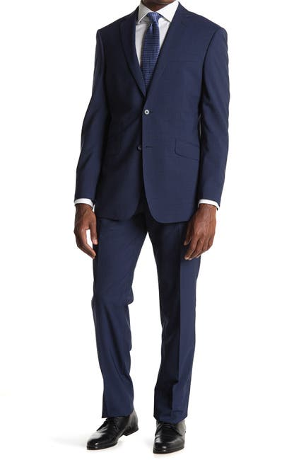 Image of English Laundry Blue Check Two Button Notch Lapel Suit