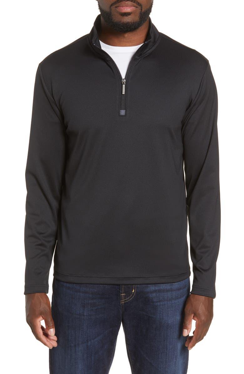 MOVE PERFORMANCE APPAREL Quarter Zip Top, Main, color, BLACK