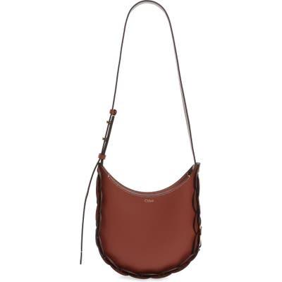 Chloe Small Darryl Leather Shoulder Bag - Brown