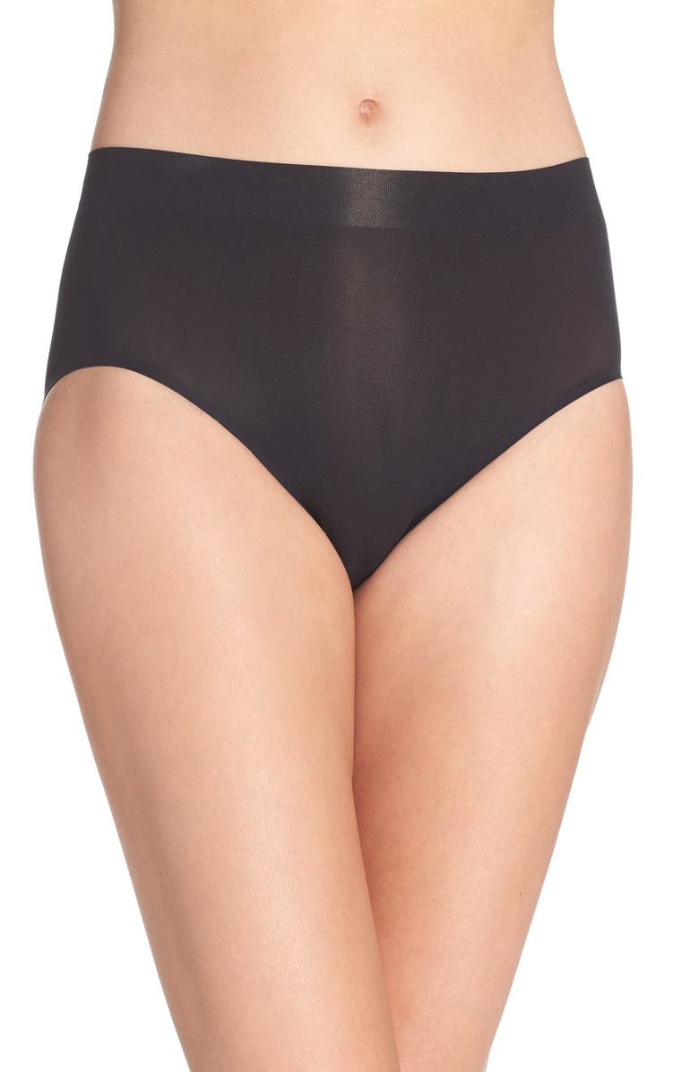 WACOAL Skinsense Seamless High Cut Briefs, Main, color, BLACK