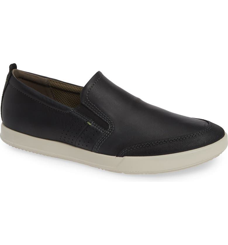 ECCO Collin 2.0 Slip-On Sneaker, Main, color, BLACK LEATHER