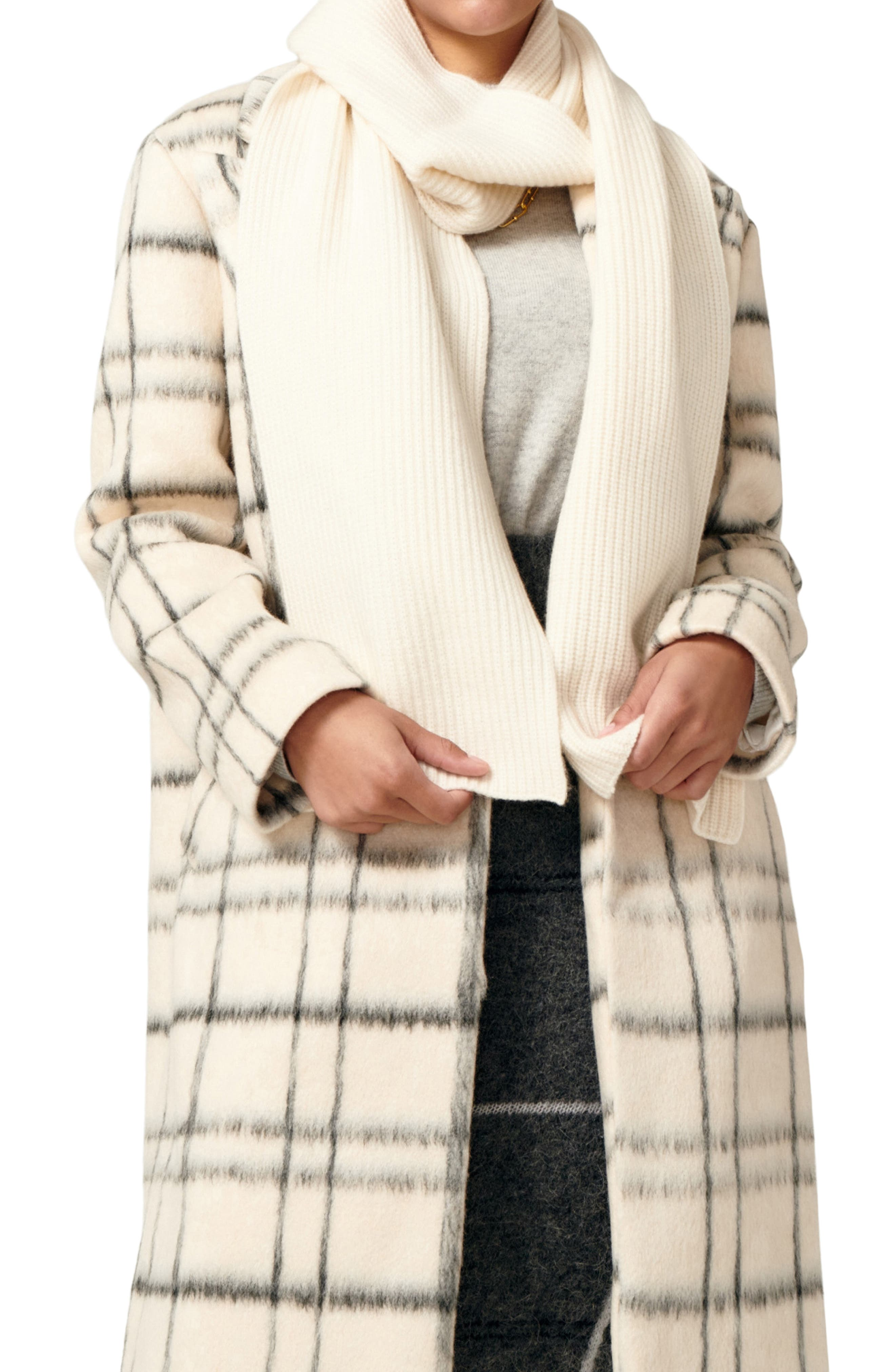 Love Recycled Cashmere Ribbed Scarf