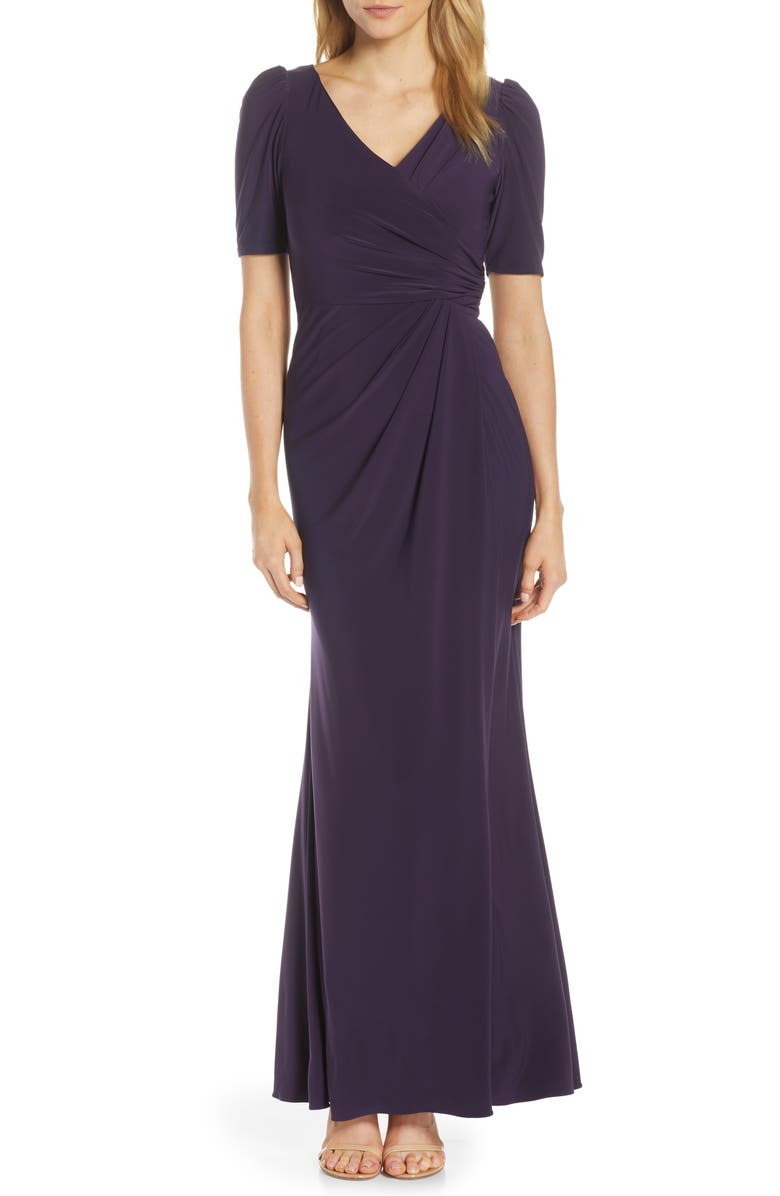 ADRIANNA PAPELL Matte Jersey Gown, Main, color, 500