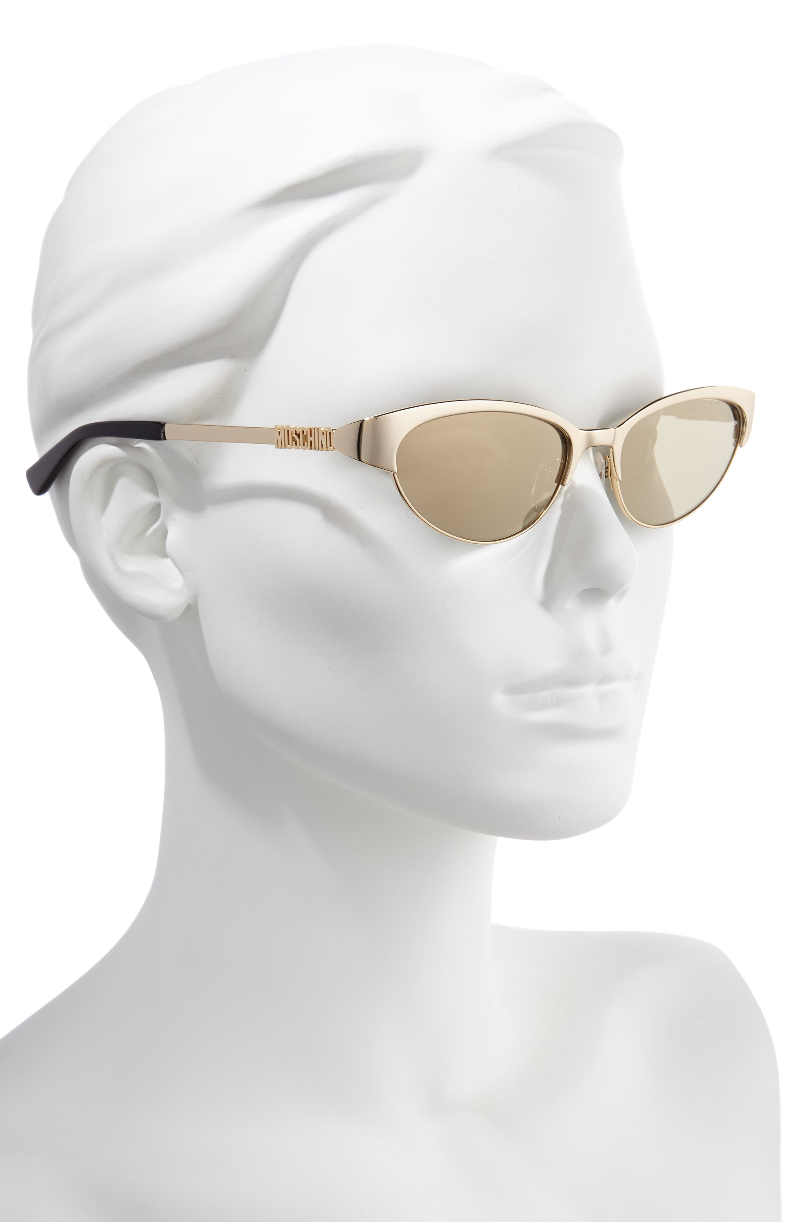 ,                             54mm Mirrored Cat Eye Sunglasses,                             Alternate thumbnail 2, color,                             ROSE GOLD