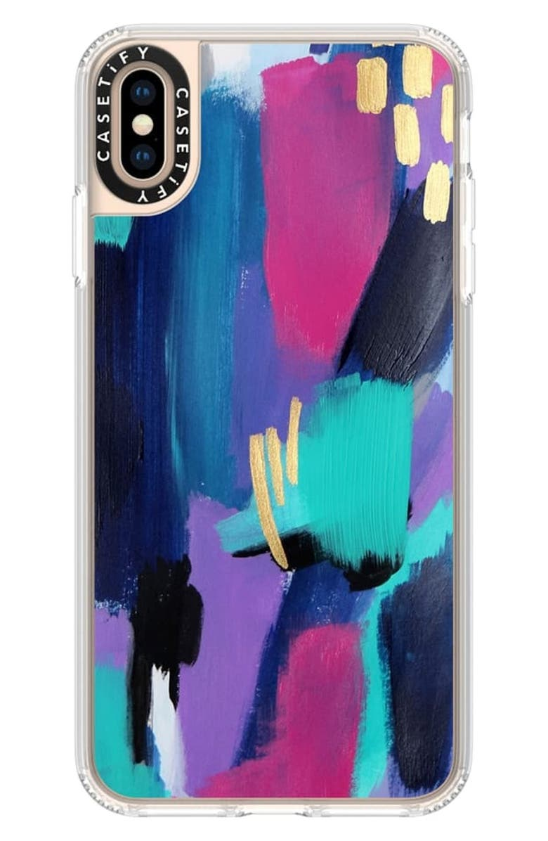 CASETIFY Glitz Glam iPhone Xs, X Max & XR Case, Main, color, PURPLE / PINK / TEAL